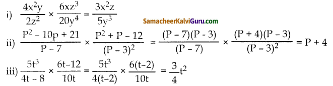 Samacheer Kalvi 10th Maths Guide Chapter 3 இயற்கணிதம் Ex 3.5 1