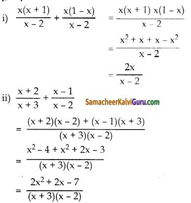 Samacheer Kalvi 10th Maths Guide Chapter 3 இயற்கணிதம் Ex 3.6 1