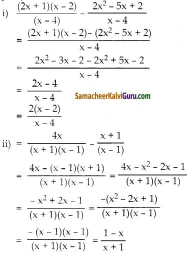Samacheer Kalvi 10th Maths Guide Chapter 3 இயற்கணிதம் Ex 3.6 9