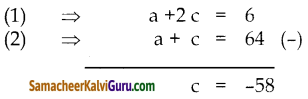 Samacheer Kalvi 10th Maths Guide Chapter 3 இயற்கணிதம் Unit Exercise 3 20