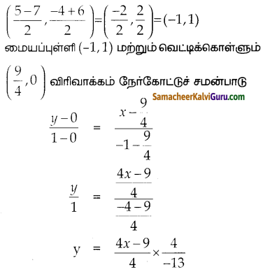Samacheer Kalvi 10th Maths Guide Chapter 5 ஆயத்தொலை வடிவியல் Ex 5.4 18