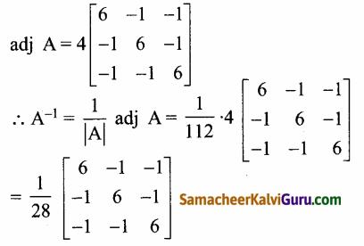 Samacheer Kalvi 12th Maths Guide Chapter 1 அணிகள் மற்றும் அணிக்கோவைகளின் பயன்பாடுகள் Ex 1.1 11