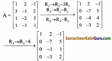 Samacheer Kalvi 12th Maths Guide Chapter 1 அணிகள் மற்றும் அணிக்கோவைகளின் பயன்பாடுகள் Ex 1.2 11