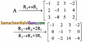 Samacheer Kalvi 12th Maths Guide Chapter 1 அணிகள் மற்றும் அணிக்கோவைகளின் பயன்பாடுகள் Ex 1.2 12