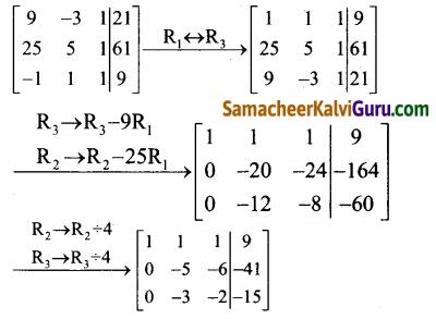 Samacheer Kalvi 12th Maths Guide Chapter 1 அணிகள் மற்றும் அணிக்கோவைகளின் பயன்பாடுகள் Ex 1.5 56