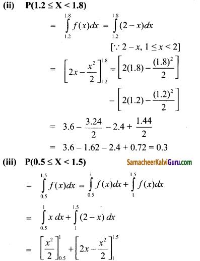 Samacheer Kalvi 12th Maths Guide Chapter 11 நிகழ்தகவு பரவல்கள் Ex 11.3 3
