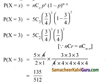 Samacheer Kalvi 12th Maths Guide Chapter 11 நிகழ்தகவு பரவல்கள் Ex 11.5 3
