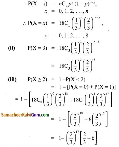 Samacheer Kalvi 12th Maths Guide Chapter 11 நிகழ்தகவு பரவல்கள் Ex 11.5 4