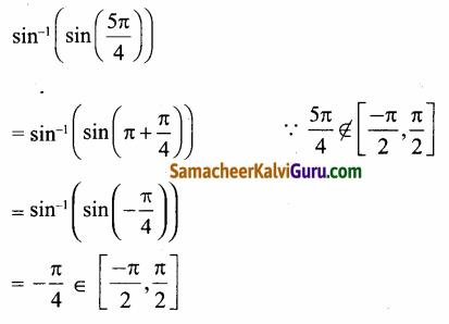 Samacheer Kalvi 12th Maths Guide Chapter 4 நேர்மாறு முக்கோணவியல் சார்புகள் Ex 4.1 28