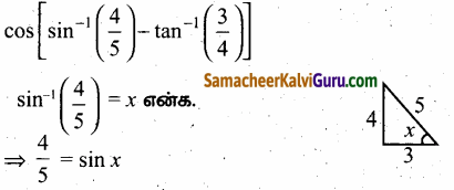 Samacheer Kalvi 12th Maths Guide Chapter 4 நேர்மாறு முக்கோணவியல் சார்புகள் Ex 4.3 56