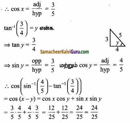 Samacheer Kalvi 12th Maths Guide Chapter 4 நேர்மாறு முக்கோணவியல் சார்புகள் Ex 4.3 57