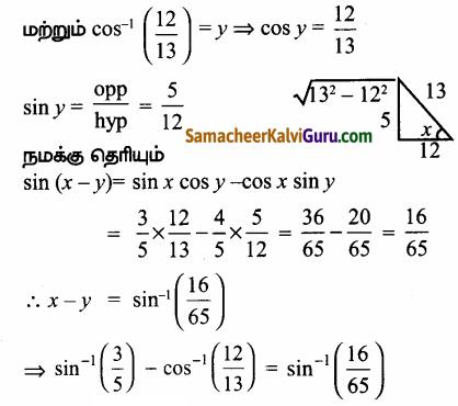 Samacheer Kalvi 12th Maths Guide Chapter 4 நேர்மாறு முக்கோணவியல் சார்புகள் Ex 4.5 26