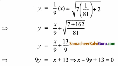 Samacheer Kalvi 12th Maths Guide Chapter 5 இரு பரிமாண பகுமுறை வடிவியல் – II Ex 5.4 10