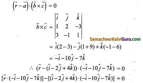 Samacheer Kalvi 12th Maths Guide Chapter 6 வெக்டர் இயற்கணிதத்தின் பயன்பாடுகள் Ex 6.7 4