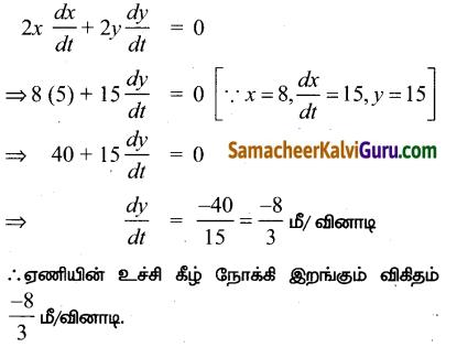 Samacheer Kalvi 12th Maths Guide Chapter 7 வகை நுண்கணிதத்தின் பயன்பாடுகள் Ex 7.1 10