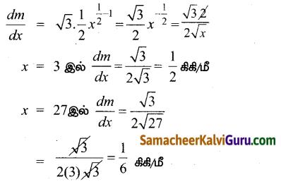 Samacheer Kalvi 12th Maths Guide Chapter 7 வகை நுண்கணிதத்தின் பயன்பாடுகள் Ex 7.1 3