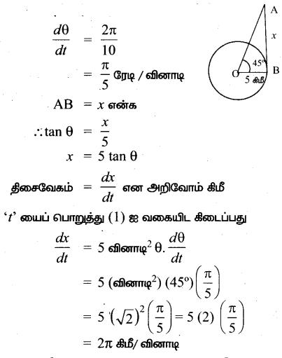 Samacheer Kalvi 12th Maths Guide Chapter 7 வகை நுண்கணிதத்தின் பயன்பாடுகள் Ex 7.1 5