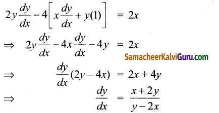 Samacheer Kalvi 12th Maths Guide Chapter 7 வகை நுண்கணிதத்தின் பயன்பாடுகள் Ex 7.2 4