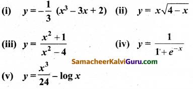 Samacheer Kalvi 12th Maths Guide Chapter 7 வகை நுண்கணிதத்தின் பயன்பாடுகள் Ex 7.9 10