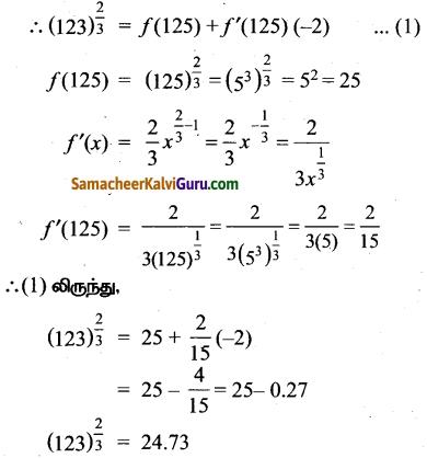 Samacheer Kalvi 12th Maths Guide Chapter 8 வகையீடுகள் மற்றும் பகுதி வகைக்கெழுக்கள் Ex 8.1 1