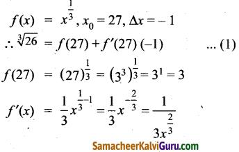 Samacheer Kalvi 12th Maths Guide Chapter 8 வகையீடுகள் மற்றும் பகுதி வகைக்கெழுக்கள் Ex 8.1 3