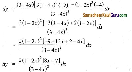 Samacheer Kalvi 12th Maths Guide Chapter 8 வகையீடுகள் மற்றும் பகுதி வகைக்கெழுக்கள் Ex 8.2 2