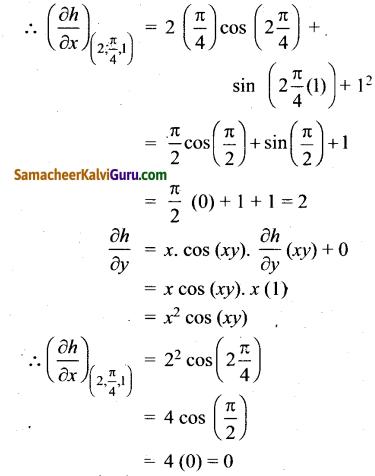 Samacheer Kalvi 12th Maths Guide Chapter 8 வகையீடுகள் மற்றும் பகுதி வகைக்கெழுக்கள் Ex 8.4 1