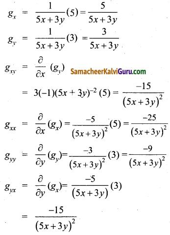 Samacheer Kalvi 12th Maths Guide Chapter 8 வகையீடுகள் மற்றும் பகுதி வகைக்கெழுக்கள் Ex 8.4 11