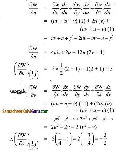 Samacheer Kalvi 12th Maths Guide Chapter 8 வகையீடுகள் மற்றும் பகுதி வகைக்கெழுக்கள் Ex 8.6 12