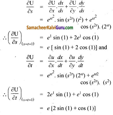 Samacheer Kalvi 12th Maths Guide Chapter 8 வகையீடுகள் மற்றும் பகுதி வகைக்கெழுக்கள் Ex 8.6 9
