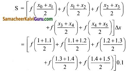 Samacheer Kalvi 12th Maths Guide Chapter 9 தொகை நுண்கணிதத்தின் பயன்பாடுகள் Ex 9.1 1