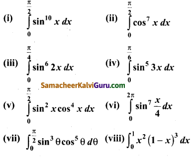 Samacheer Kalvi 12th Maths Guide Chapter 9 தொகை நுண்கணிதத்தின் பயன்பாடுகள் Ex 9.6 1