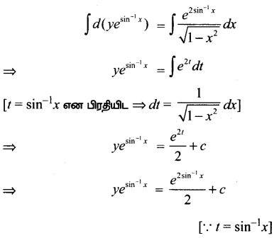 Samacheer Kalvi 12th Maths Guide Chapter Chapter 10 சாதாரண வகைக்கெழுச் சமன்பாடுகள் Ex 10.7 10