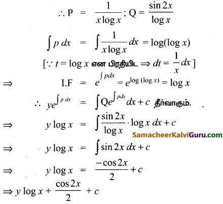 Samacheer Kalvi 12th Maths Guide Chapter Chapter 10 சாதாரண வகைக்கெழுச் சமன்பாடுகள் Ex 10.7 15