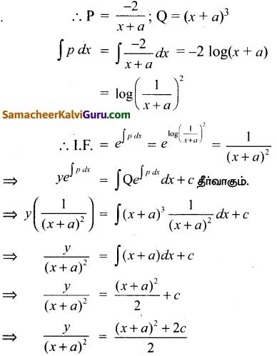 Samacheer Kalvi 12th Maths Guide Chapter Chapter 10 சாதாரண வகைக்கெழுச் சமன்பாடுகள் Ex 10.7 17