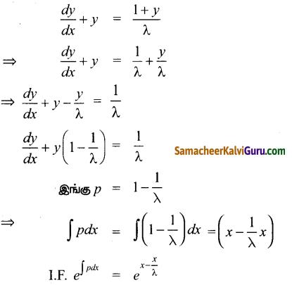Samacheer Kalvi 12th Maths Guide Chapter Chapter 10 சாதாரண வகைக்கெழுச் சமன்பாடுகள் Ex 10.9 4
