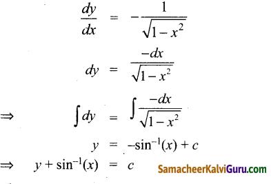 Samacheer Kalvi 12th Maths Guide Chapter Chapter 10 சாதாரண வகைக்கெழுச் சமன்பாடுகள் Ex 10.9 5