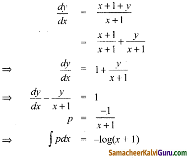 Samacheer Kalvi 12th Maths Guide Chapter Chapter 10 சாதாரண வகைக்கெழுச் சமன்பாடுகள் Ex 10.9 7
