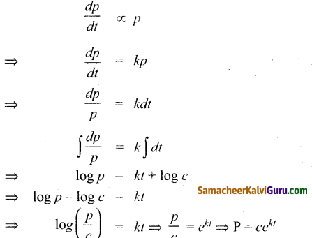 Samacheer Kalvi 12th Maths Guide Chapter Chapter 10 சாதாரண வகைக்கெழுச் சமன்பாடுகள் Ex 10.9 9