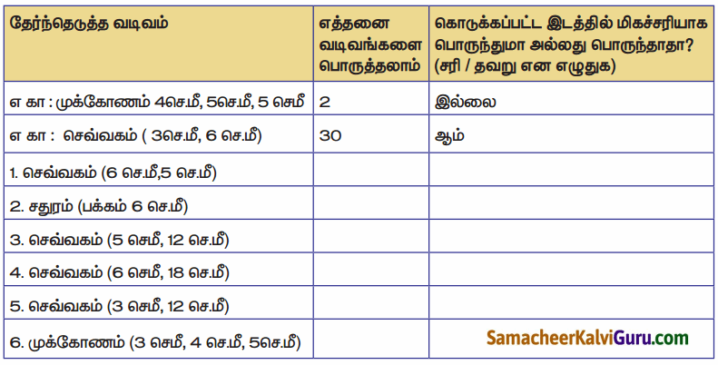 Samacheer Kalvi 4th Maths Guide Term 1 Chapter 1 வடிவியல் InText Questions 20.3