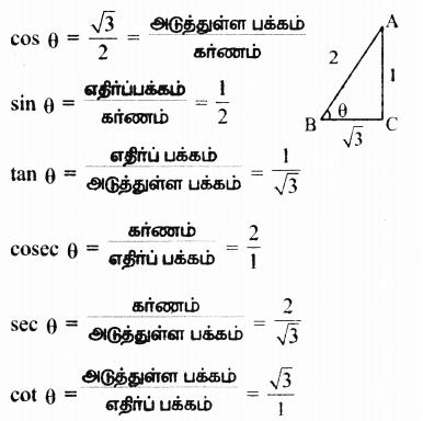 Samacheer Kalvi 9th Maths Guide Chapter 6 முக்கோணவியல் Ex 6.1 6