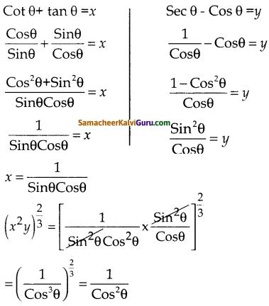 Samacheer Kalvi 10th Maths Guide Chapter 6 முக்கோணவியல் Ex 6.1 11