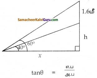 Samacheer Kalvi 10th Maths Guide Chapter 6 முக்கோணவியல் Ex 6.2 4