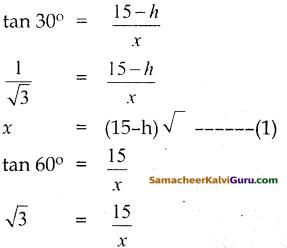 Samacheer Kalvi 10th Maths Guide Chapter 6 முக்கோணவியல் Ex 6.2 9