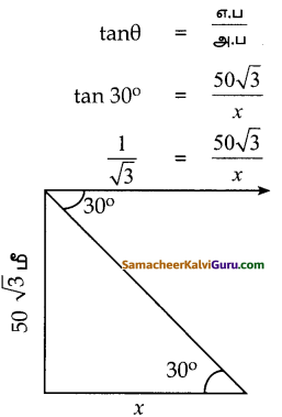 Samacheer Kalvi 10th Maths Guide Chapter 6 முக்கோணவியல் Ex 6.3 1