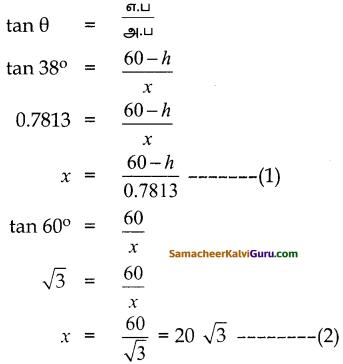 Samacheer Kalvi 10th Maths Guide Chapter 6 முக்கோணவியல் Ex 6.3 5