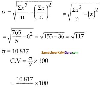 Samacheer Kalvi 10th Maths Guide Chapter 8 புள்ளியியலும் நிகழ்தகவும் Ex 8.2 1