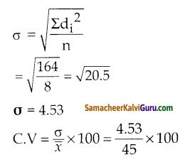 Samacheer Kalvi 10th Maths Guide Chapter 8 புள்ளியியலும் நிகழ்தகவும் Ex 8.2 4