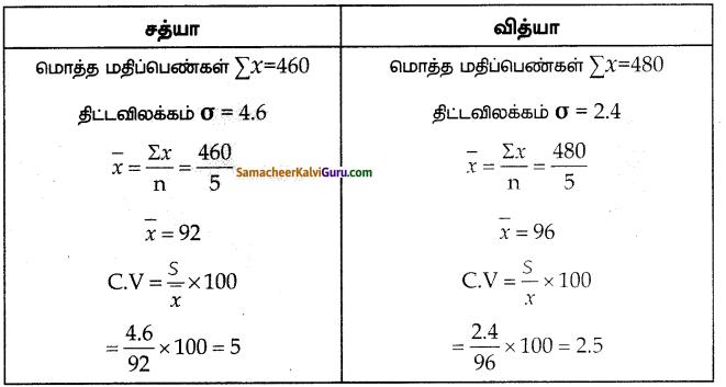 Samacheer Kalvi 10th Maths Guide Chapter 8 புள்ளியியலும் நிகழ்தகவும் Ex 8.2 5