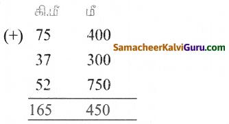 Samacheer Kalvi 5th Maths Guide Term 1 Chapter 4 அளவைகள் Ex 4 2